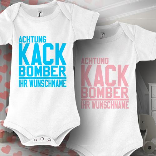 babybody baby strampler wunschname druck kack bomber geschenk idee geburt lustig ebay. Black Bedroom Furniture Sets. Home Design Ideas